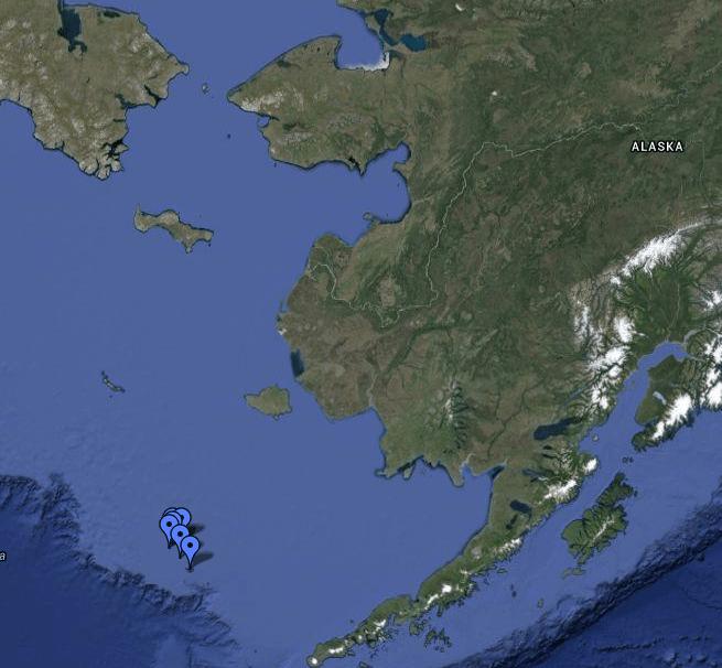 Pribilof Islands off the coast of Alaska