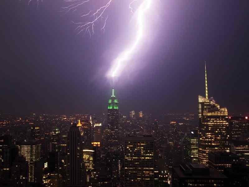 lightning skyscraper