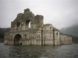 A severe drought in Mexico has uncovered a once-submerged 16th-century church.