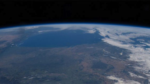 Round Earth in a NASA looking photograph