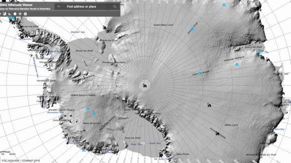 Antarctica Map: High Resolution Terrain Viewer on neurodope.com